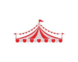 Circus tent logo template. Vector