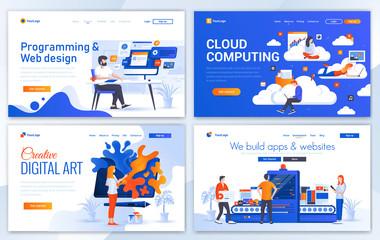 Flat Modern design of website template - Web Design