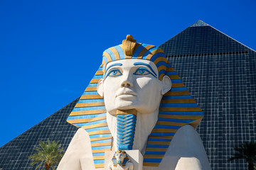Las Vegas, Sphinx replica front of Luxor Hotel and Casino