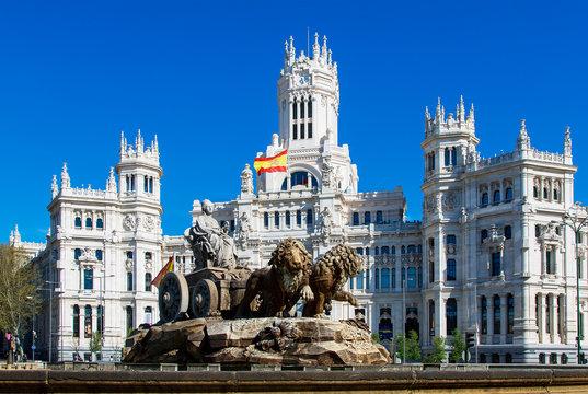 Spain, Madrid, Plaza de Cibeles