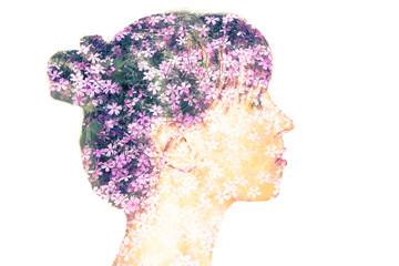 Blooming female portrait.