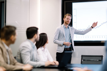 Picture of business meeting in conference room