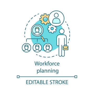 Workforce planning concept icon