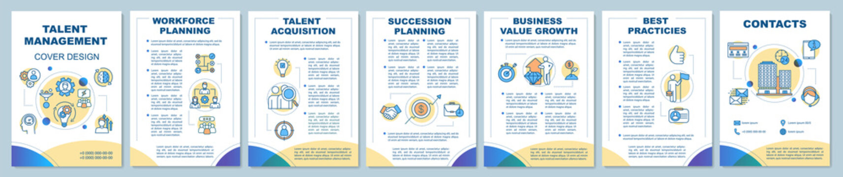 Talent management brochure template layout