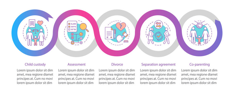 Mediation vector infographic template