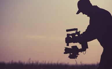 Fototapeta Gimbal Camera Operator