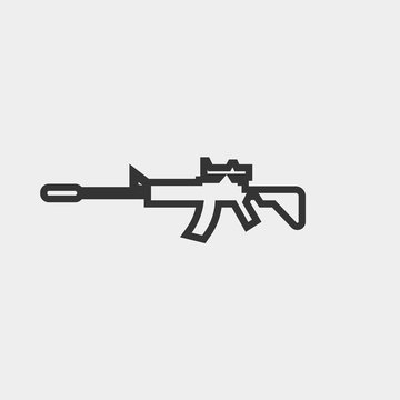 Assault carbine vector icon