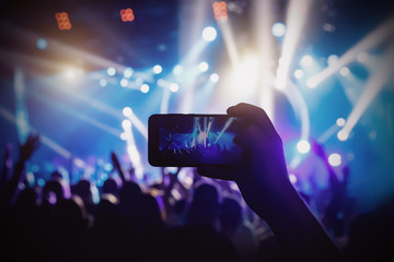 Photo for social networks at the concert