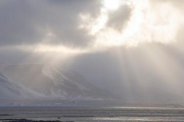 Sun shining on the isles around Snaefellsnes - Iceland