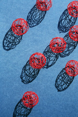 Wire Balls With Shadow