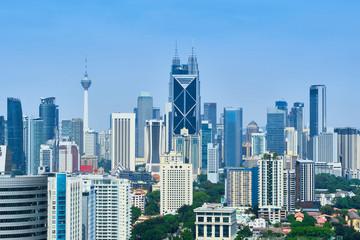 City skyline view of Kuala Lumpur, capital of Malaysia