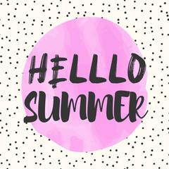 Fotorolgordijn Retro sign cute summer poster