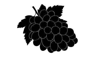 the silhouette of grapes