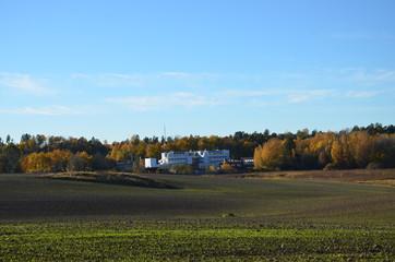 Landskap och en fabrik