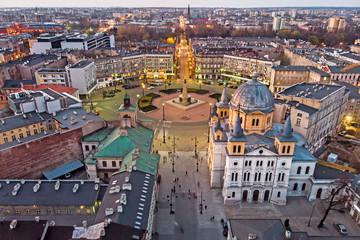 Obraz Łódź, Polska - widok na Plac Wolności - fototapety do salonu