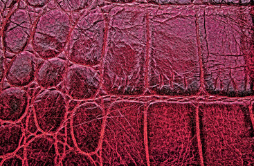 Wall Mural - Abstract red crocodile skin texture, as background.