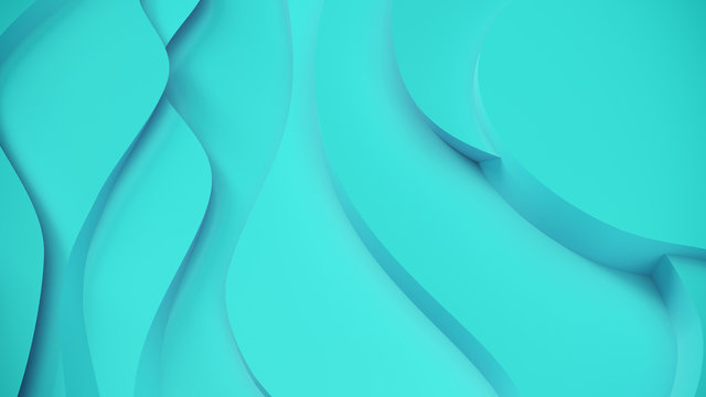 Elegant blue relief. Abstract topographical background. Beautiful fluid design. chaotic ribbons create white flow. 3d illustration