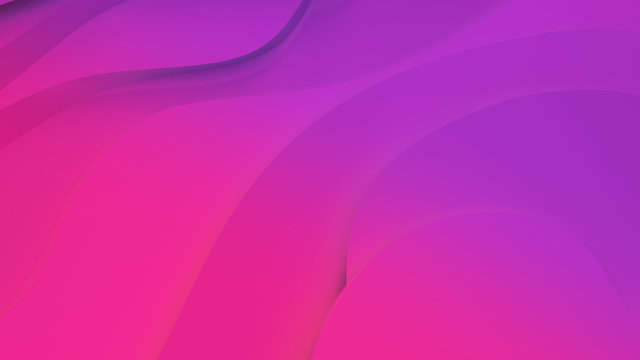 Elegant purple and pink neon color. relief. Abstract topographical background. Beautiful fluid design. chaotic ribbons create white flow. 3d illustration