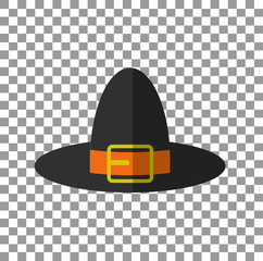 Pilgrim Hat. EPS10 vector illustration