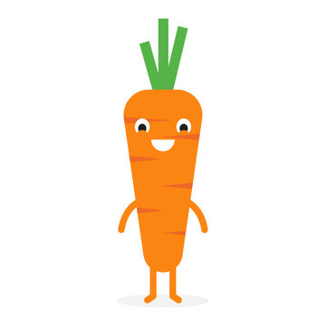Carrot, Cute vegetable character