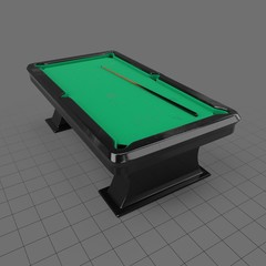 Dirty pool table