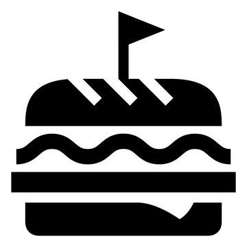 Deli Hoagie Sandwich Vector Icon