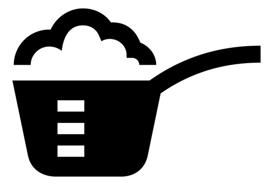 Measuring Cup With Ingredients Vector Icon