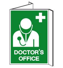 Doctor'Office Symbol Sign, Vector Illustration, Isolate On White Background Label. EPS10