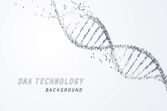 Digital of DNA virtual, technology and medical concept