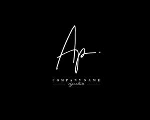 A P AP Signature initial logo template vector