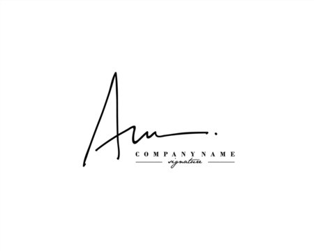 A M AM Signature initial logo template vector