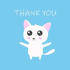 Printed kitchen splashbacks Cats Cute white cat or kitten with big eyes