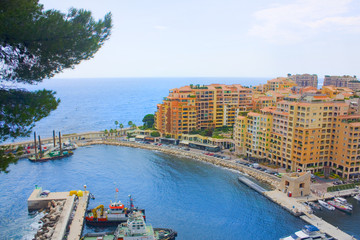Foto op Canvas Las Vegas View on Fontvieille and Monaco Harbor