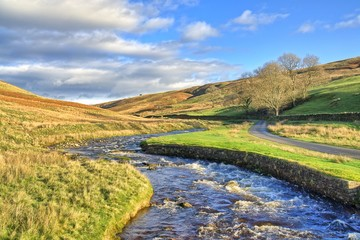 Barbon Beck, a stream near Kirkby Lonsdale. Fototapete