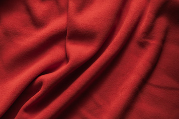 Background texture of red fleece Fototapete