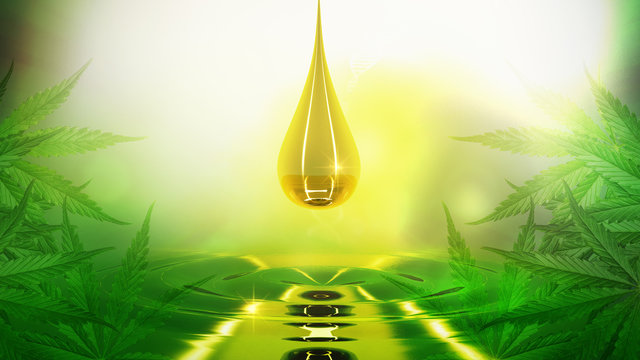 oil hemp.abstract cannabis background