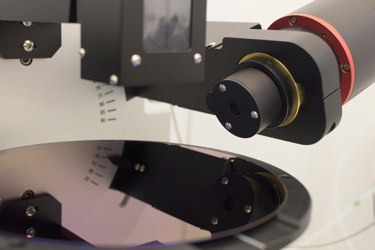 Silicon wafer of purple color measure thickness of film on ellipsometer