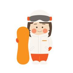 女性キャラクタースノーボード