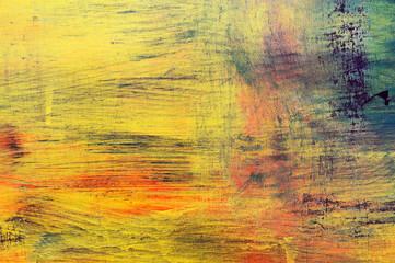 Malen mit gelben und roten Tönen