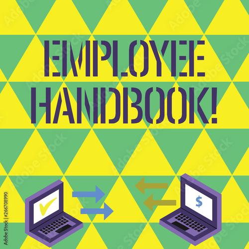 Handwriting text writing Employee Handbook  Conceptual photo
