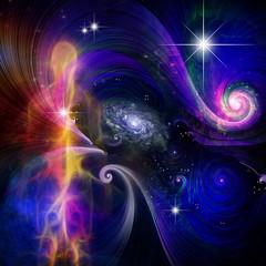Fototapete - Soul or spirit in space