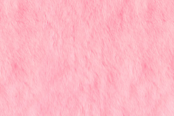 Texture of pink shaggy fur. Animal soft texture