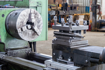 Part of lathe grinding machine in factory