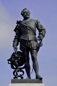Statue von Sir Francis Drake in Plymouth Großbritannien