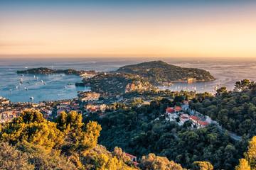 French Riviera coastline in Saint-Jean-Cap-Ferrat  Fototapete