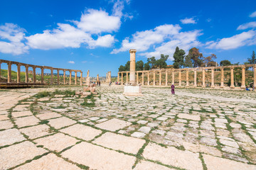 Fotomurales - Ancient and roman ruins of Jerash (Gerasa), Jordan.