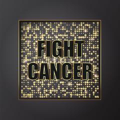 Fight cancer square banner design. Vector illustration.
