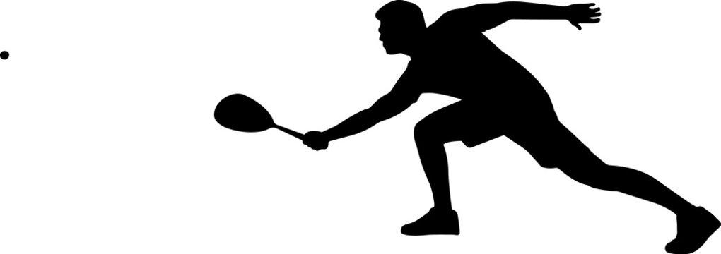 Squash - Men 5 isolated vector silhouette