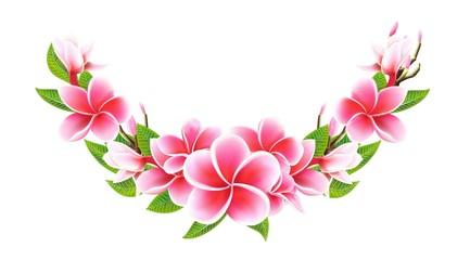 Valentines day postcard Wedding invitation card half wreath with lily flowers
