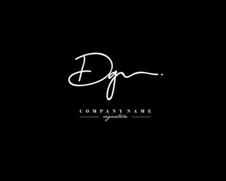 D G DG Signature initial logo template vector